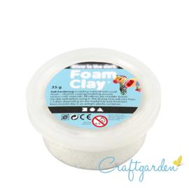 Foam Clay - glow in the dark - wit - 35 gram