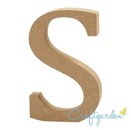 MDF - Letter - S -  13 cm x 8 cm