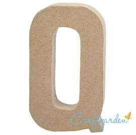 Papier Maché - Letter - Q - 20.3  x 11.5 cm