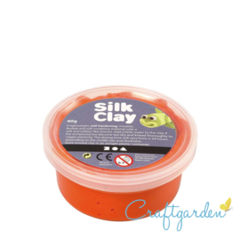 Silk Clay - Basis kleur - oranje - 40 gram