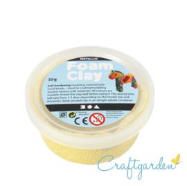 Foam Clay - metallic - geel- 35 gram