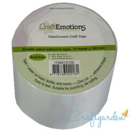 CraftEmotion -  EasyConnect - dubbelzijdig Craft tape  -15m x 100 mm