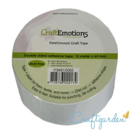 CraftEmotion -  EasyConnect - dubbelzijdig Craft tape  -15m x 65 mm