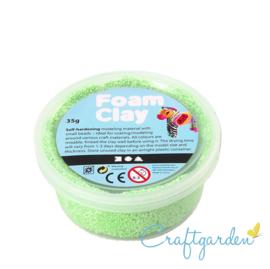 Foam Clay - Basis kleur - neon groen - 35 gram