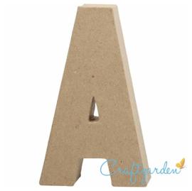 Papier Maché - Letter - A - 20,5  x 11.8 cm