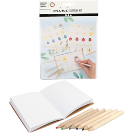 Mini Creative Kit, tekenen - insecten, 1set