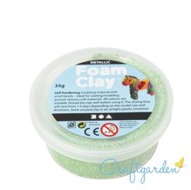 Foam Clay - metallic - groen - 35 gram