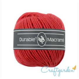 Durable - macramé - rood - 316