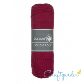 Durable - Double Four - katoen - 100 gram - Bordeaux - 222