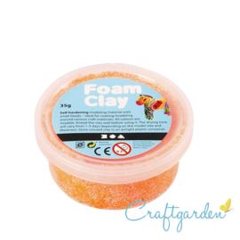 Foam Clay - Basis kleur - neon oranje - 35 gram