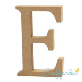 MDF - Letter - E -  13 cm x 9 cm