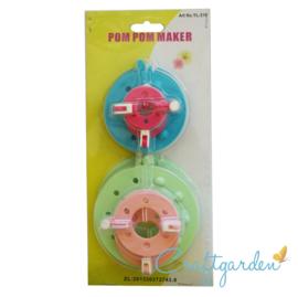 Pompom  maker -  set 4 maten -
