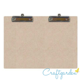 Houten -  MDF -  Clipboard 2x A5, 2 hang clips - 31 x  22cm