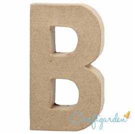 Papier Maché - Letter - B - 20,5  x 11.5 cm