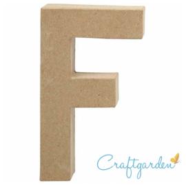 Papier Maché - Letter - F - 20,5  x 11.6 cm