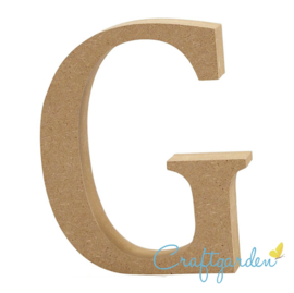 MDF - Letter - G -  13 cm x 10.5 cm