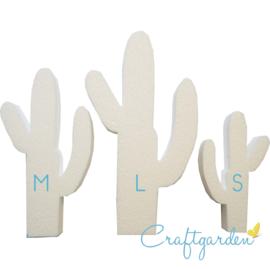 Styropor - Piepschuim - Cactus - maat M - 20 x 11 x 3 cm