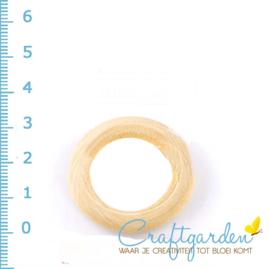Houten - ring - rond - 3.4 mm - 5 stuks