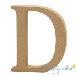 MDF - Letter - D -  13 cm x 11 cm