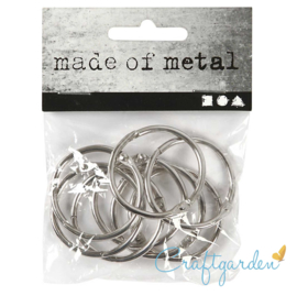 Boekbinders - ring - 8 stuks - 32 mm