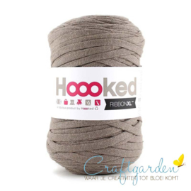 Hoooked-RIBBONXL-250 gram -earth taupe