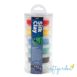 Silk Clay - standaard kleuren - Torrentje - 6 x 14 gram