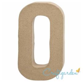 Papier Maché - Letter - O - 20.4  x 11.5 cm