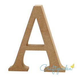 MDF - Letter - A -  13 cm x 11 cm