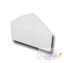 Styropor - piepschuim  - taartpunt - 7cm hoog