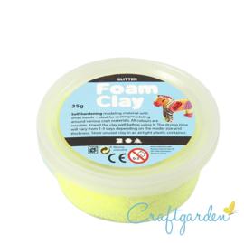 Foam Clay - glitter  - geel - 35 gram