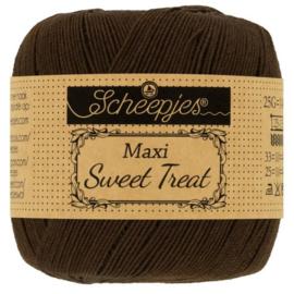 Scheepjes - maxi sweet treat - katoen - 25 gram -  black coffee -162