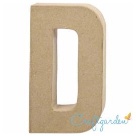 Papier Maché - Letter - D - 20,2  x 11.5 cm