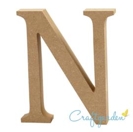 MDF - Letter - N -  13 cm x 11 cm