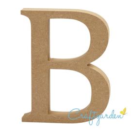 MDF - Letter - B -  13 cm x 10cm