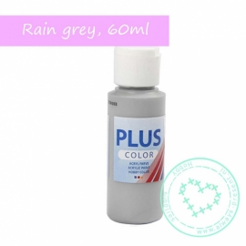 Plus color acrylverf rain grey, 60 ml