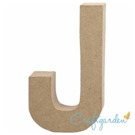 Papier Maché - Letter - J - 20.5  x 11.5 cm