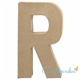 Papier Maché - Letter - R - 20.5  x 11.7 cm