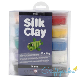 Silk Clay - Basis kleuren - Pakket 1 - 10 x 40 gram