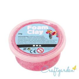 Foam Clay - Basis kleur - neon roze - 35 gram