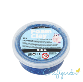 Foam Clay - glitter  - donker blauw - 35 gram