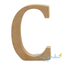 MDF - Letter - C -  13 cm x 9 cm