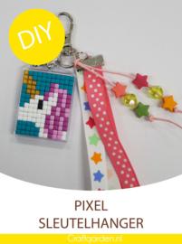 Pixel Hobby - sleutelhanger  -  cadeau pakket - eenhoorn
