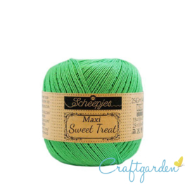Scheepjes - maxi sweet treat - katoen - 25 gram - apple green - 389