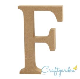 MDF - Letter - F -  13 cm x 8.5 cm