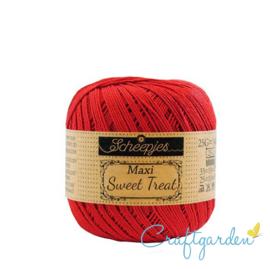 Scheepjes - maxi sweet treat - katoen - 25 gram -  hot red - 115