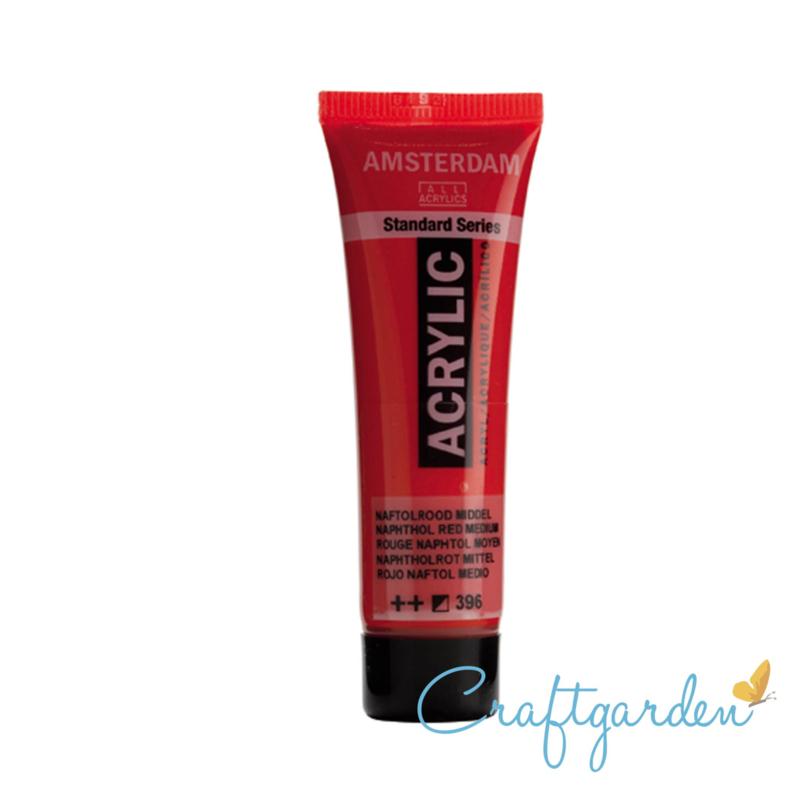 Amsterdam - All Acrylics - 20 ml - naftolrood middel - 396