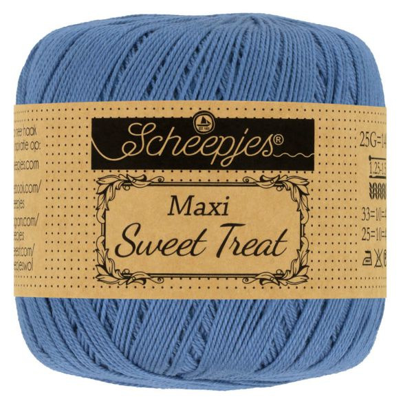 Scheepjes - maxi sweet treat - katoen - 25 gram -  Blauw - 261