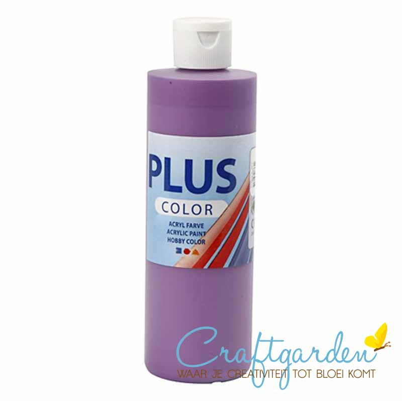Plus color - acryl - Verf - 250 ml - Dark Lilac - Donker Lila