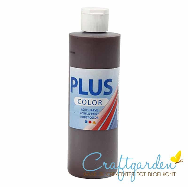 Plus color - acryl - Verf - 250 ml - Chocolate