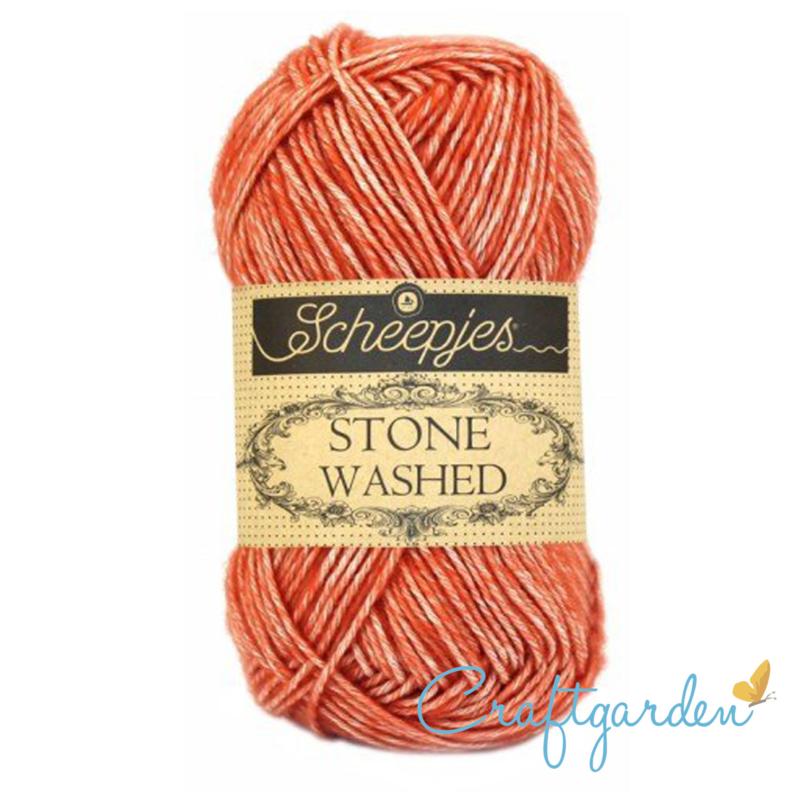 Scheepjes - Stone washed - garen - coral - 816